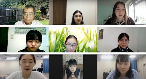 UCL-Japan Youth Challenge 2020 participants discussing virtually